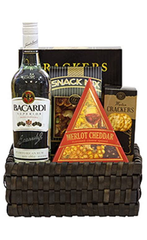 rum gifts bacardi rum gift baskets
