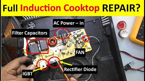how to remove electric cooktop complete induction cooktop repairing guide tutorial