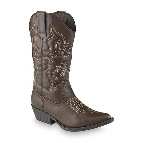 intaglia s cisco brown cowboy boot wide width