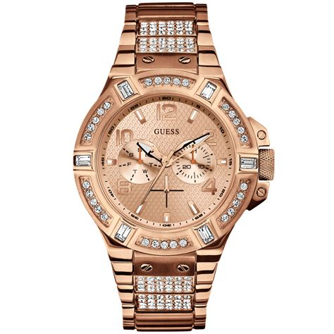 guess s gold tone stainless steel bracelet