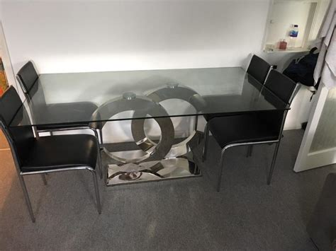 Coco Dining Table Coco Chanel Modern Glass Top Dining Table In Rochester Kent Gumtree