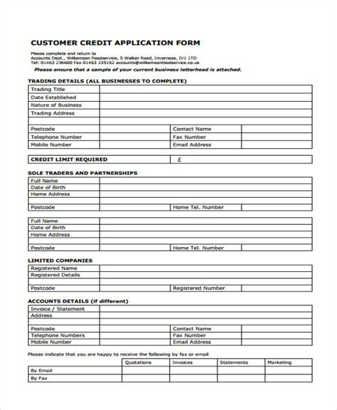 Toyota Credit Application Form Pdf Credit Application Form Size Of Credit Application Template Sweet Free Rental Credit