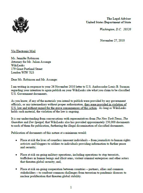 national visa center phone number u s state department letter to wikileaks intelligence
