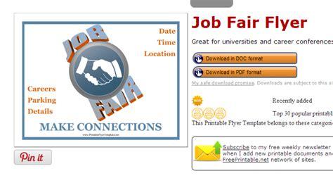 5 career fair flyer templates af templates