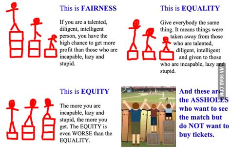 Equality Meme - fairness equality equity and asshole 9gag