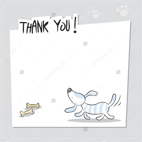 free silly card template 11 thank you cards free eps psd format