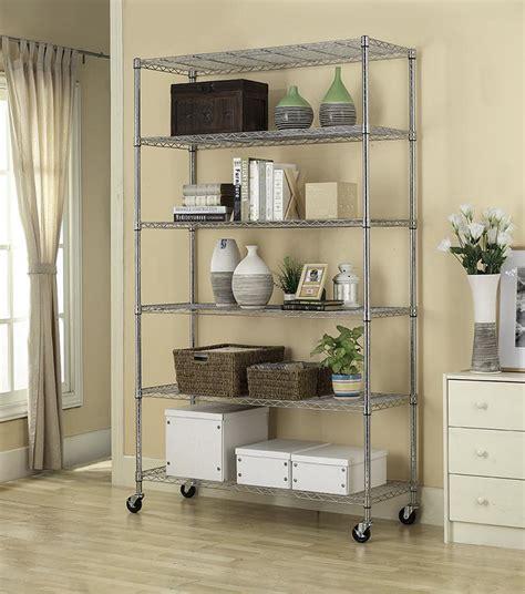 commercial 82 quot x48 quot x18 quot 6 tier layer shelf adjustable wire