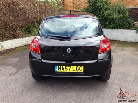 renault clio 2007 black renault clio dynamique turbo 100 5 door black 2007 57