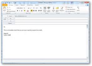 Create Professional Email Template by How To Create And Use Templates In Outlook 2010