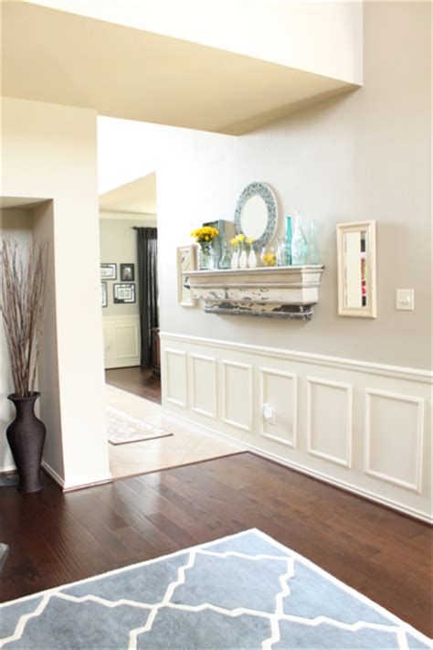 Faux Wainscoting With Paint by Hometalk Wainscoting Tutorial