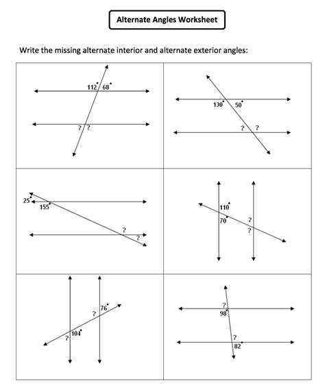 Corresponding Angles Worksheet by Interior Angles Of Polygons Worksheet Book Covers