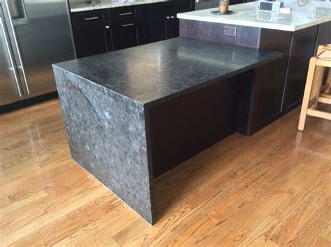 leather finish granite waterfall antique brown granite with leather finish mjm
