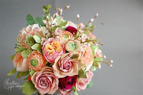 design your flower bouquet paper flowers for a fairytale wedding christine paper