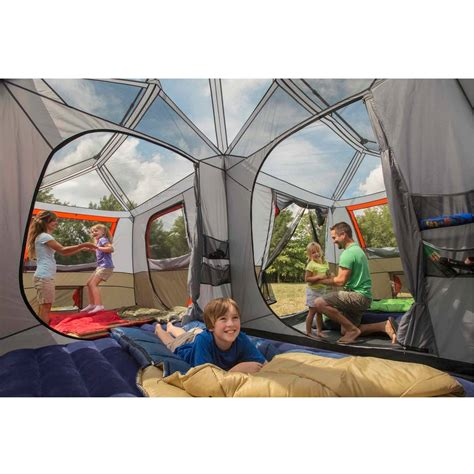 Ozark Trail 3 Room Cabin Tent by Ozark Trail 12 Person 3 Room L Shaped Instant Cabin Tent