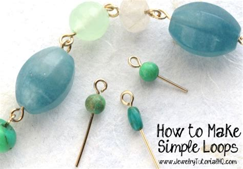 how to make jewelry with and wire how to make simple wire loops jewelry basics