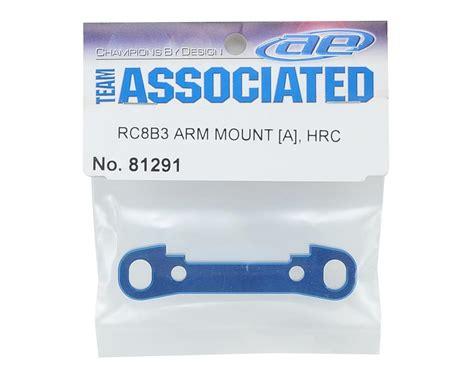 81291 Team Associated Rc8b3 Arm Mount A Hrc aluminum hrc arm mount quot a quot by team associated asc81291