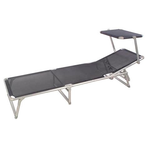 lounge chair with shade quot sun shade quot patio lounge chair grey rona