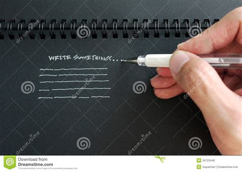markers that write on black paper black book to write royalty free stock image image 34723446