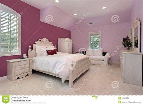 s pink bedroom in luxury home stock photo image