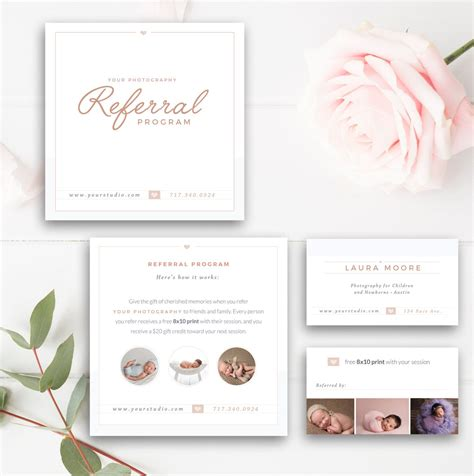 salon referral cards templates photography referral card photoshop template referral