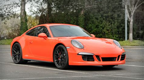 Gorgeous 2016 Lava Orange Porsche Gts Rare Cars For Sale