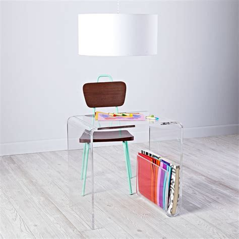 clear plastic desk clear space acrylic desk the land of nod