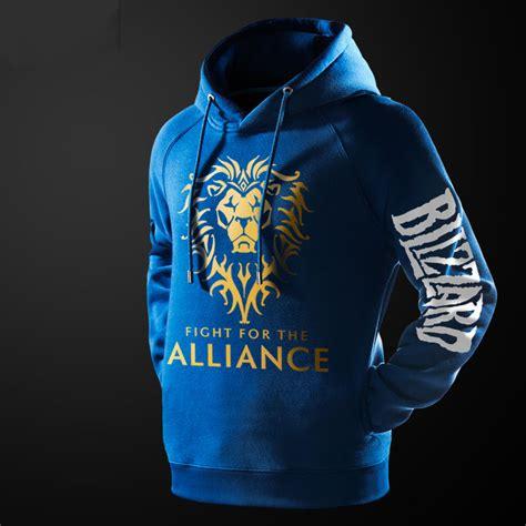 Hoodie Warcraft For The Alliance Fightmerch wow world of warcraft alliance hoodie black hooded pullover sweatshirt for wishining