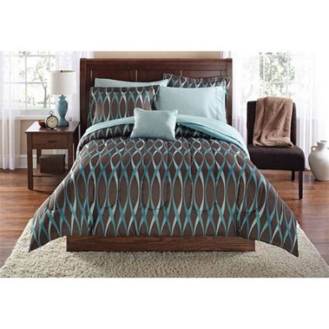 Walmart King Size Bed In A Bag Mainstays Wavy Bed In A Bag Bedding Set Walmart Com