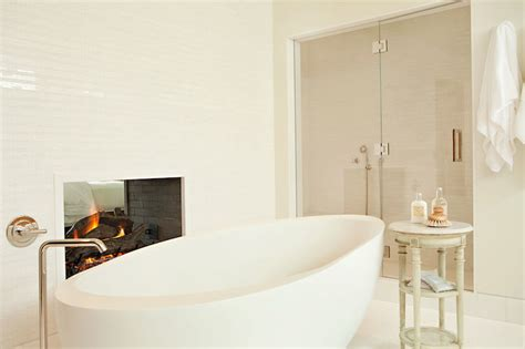 see through bathtub see through fireplace contemporary bathroom chris