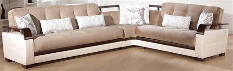 Furniture Sectional Sleeper Sofa by Modern Sectional Sofa Bed In Naomai Brown Color By