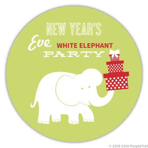 white elephant grabbag party new year s white elephant gift exchange invitation new years invitations