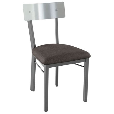 Stainless Dining Chairs Lennon Modern Stainless Steel Dining Chair Eurway