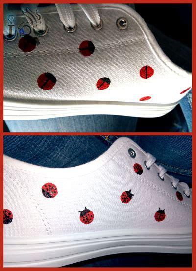como decorar mis zapatillas ideadoamano c 243 mo decorar unas zapatillas con mariquitas