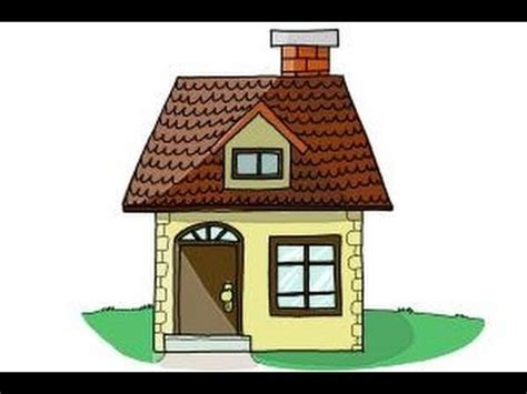 draw a house how to draw a house step by step for kids youtube