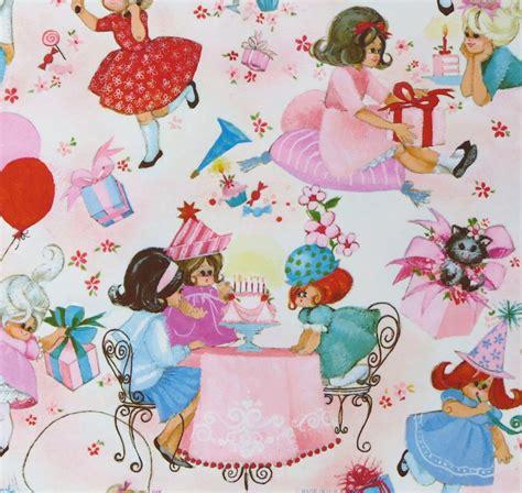 retro gift wrap vintage hallmark juvenile birthday gift wrap wrapping paper