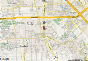map pearland map of best western pearland inn pearland