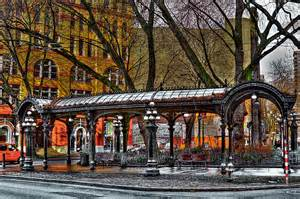 Pergola Seattle by The Pergola In Pioneer Square Seattle Photograph By