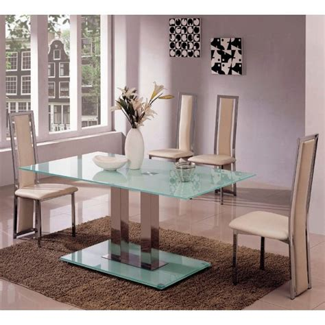 frosted glass dining table and chairs frosted glass dining table and 4 chairs homegenies