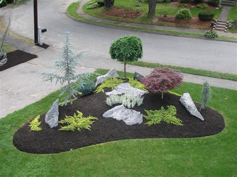 Yard With Decorative Rock Landscaping Ideas Blooming by Simple Landscape Designs With Rock Beds Search