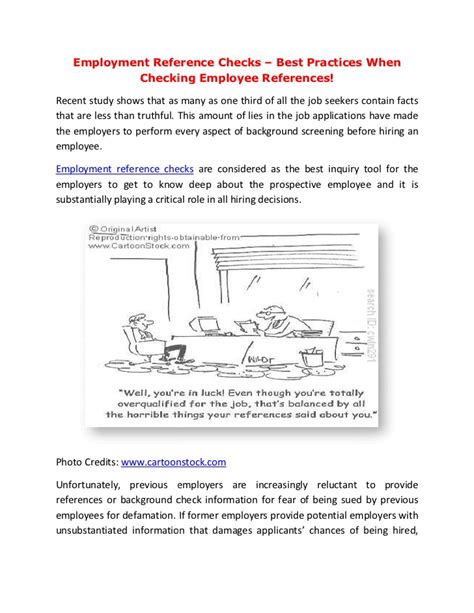 Failed Employment Background Check Employment Reference Checks Best Practices When Checking Employee R
