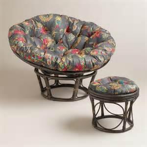 antigua micro suede papasan stool cushion world market