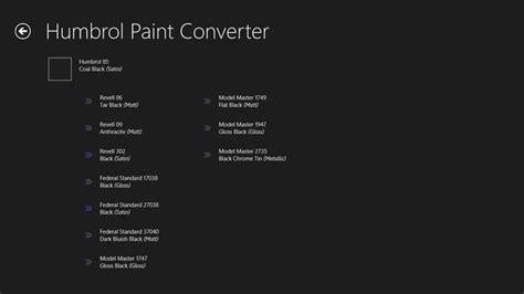 humbrol paint converter microsoft store