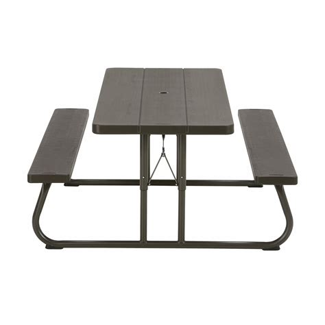 lifetime 6 folding table lifetime 6 folding picnic table brown bj s wholesale