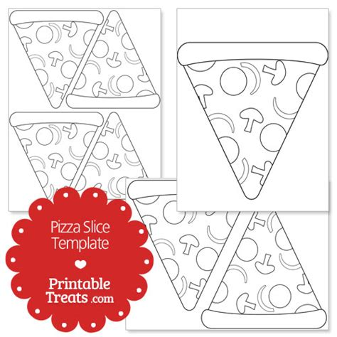 pizza template free printable pizza slice shape template printable treats