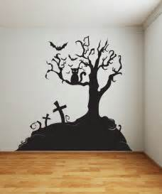 Halloween Wall Decoration Vinyl Wall Decal Sticker Halloween Tree 1014s