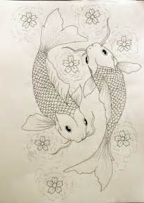 Two Koi Fish Outline by Pisces Outline By Kelseysparrow67 On Deviantart