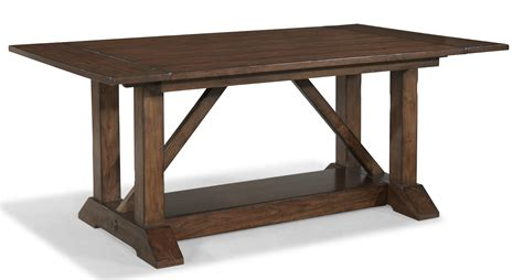 trestle table with leaves livingston trestle table with 2 leaves morris home