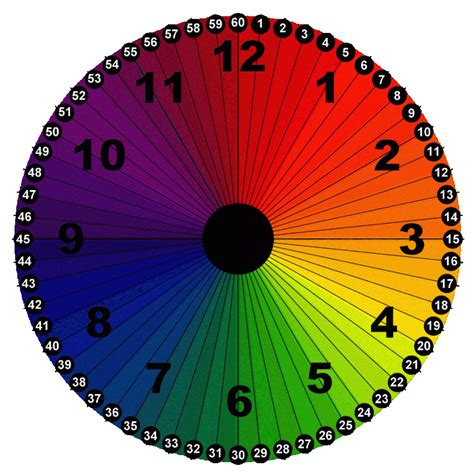 printable clock manipulative color wheel clock with minutes and hours free printable