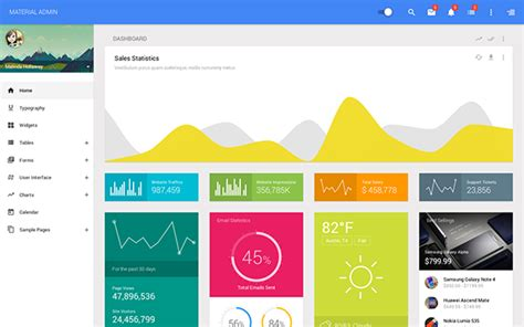 bootstrap themes material design these bootstrap admin themes are material design inspired