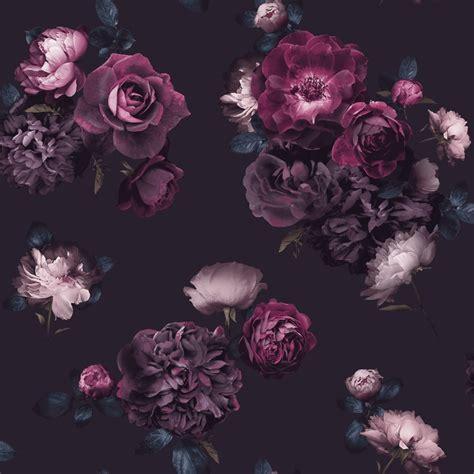 colours cocktail plum floral wallpaper departments diy euphoria dark wallpaper plum wallpaper b m